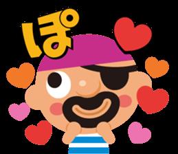 "KUROHIGE Pop Up Pirate"" sticker #6141556"