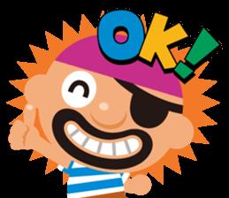 "KUROHIGE Pop Up Pirate"" sticker #6141559"