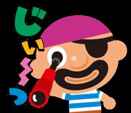 "KUROHIGE Pop Up Pirate"" sticker #6141562"