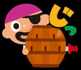 "KUROHIGE Pop Up Pirate"" sticker #6141566"