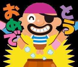 "KUROHIGE Pop Up Pirate"" sticker #6141567"