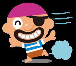 "KUROHIGE Pop Up Pirate"" sticker #6141570"