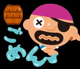 "KUROHIGE Pop Up Pirate"" sticker #6141581"