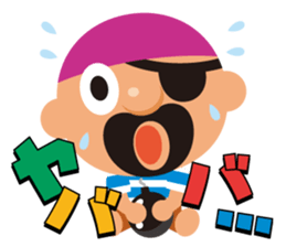 "KUROHIGE Pop Up Pirate"" sticker #6141587"