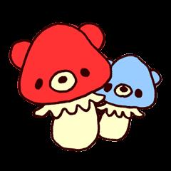 tiny mushroom bear