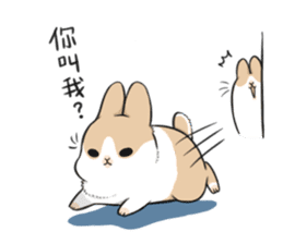 Machiko rabbit 2 sticker #6146436