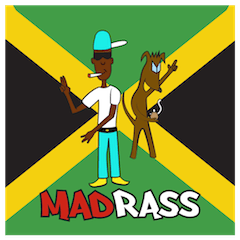 Madrass Jamaican patwa Dancehall sticker