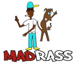 Madrass Jamaican patwa Dancehall sticker sticker #6147291