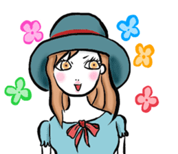 Girl's (English) sticker #6147515