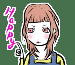 Girl's (English) sticker #6147527