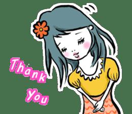 Girl's (English) sticker #6147535