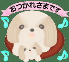 Shih Tzu. Honorific & polite language. sticker #6148835
