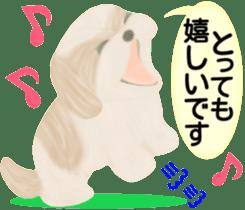 Shih Tzu. Honorific & polite language. sticker #6148846