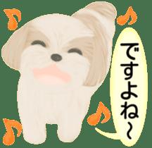 Shih Tzu. Honorific & polite language. sticker #6148867