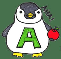 Penguin Alphabet&numbers sticker #6151576