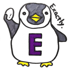Penguin Alphabet&numbers sticker #6151580