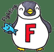 Penguin Alphabet&numbers sticker #6151581