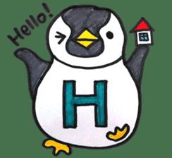 Penguin Alphabet&numbers sticker #6151583