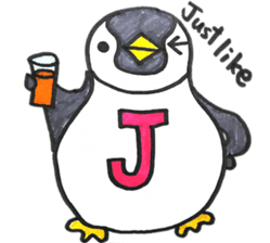 Penguin Alphabet&numbers sticker #6151585