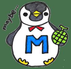 Penguin Alphabet&numbers sticker #6151588