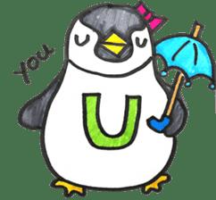Penguin Alphabet&numbers sticker #6151596