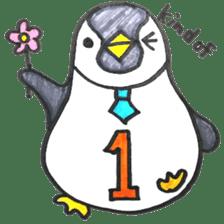Penguin Alphabet&numbers sticker #6151605