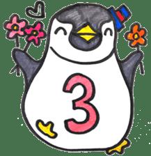 Penguin Alphabet&numbers sticker #6151607