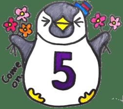Penguin Alphabet&numbers sticker #6151609