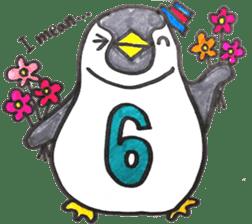 Penguin Alphabet&numbers sticker #6151610