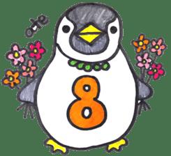 Penguin Alphabet&numbers sticker #6151612