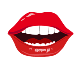 Lips of woman sticker #6156181