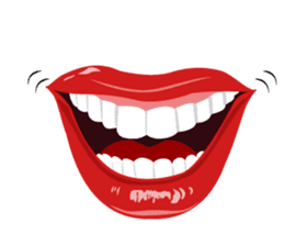 Lips of woman sticker #6156187