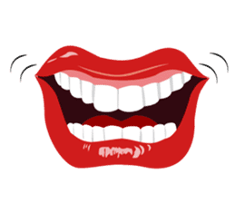 Lips of woman sticker #6156188