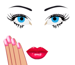 Lips of woman sticker #6156203