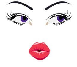 Lips of woman sticker #6156206