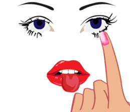 Lips of woman sticker #6156209