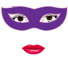 Lips of woman sticker #6156213