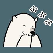 สติ๊กเกอร์ไลน์ SIMPLE POLAR BEARS Sticker