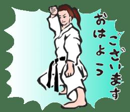 OSU!! Karate girl sticker #6172380