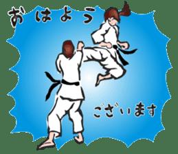OSU!! Karate girl sticker #6172382