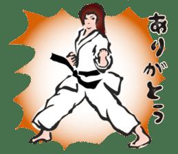 OSU!! Karate girl sticker #6172394