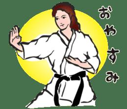 OSU!! Karate girl sticker #6172397