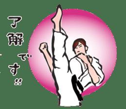 OSU!! Karate girl sticker #6172399