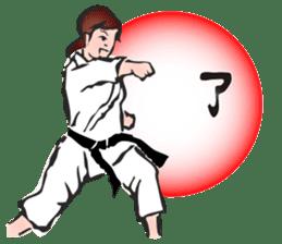 OSU!! Karate girl sticker #6172404