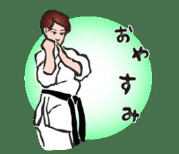 OSU!! Karate girl sticker #6172407