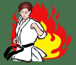 OSU!! Karate girl sticker #6172414