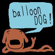 สติ๊กเกอร์ไลน์ THE balloon DOG - English ver. -