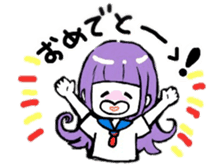 KAWAII ONNANOKO sticker sticker #6177081