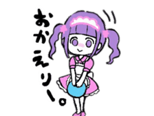 KAWAII ONNANOKO sticker sticker #6177085