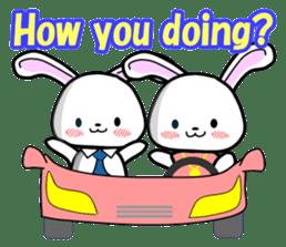 English Rabbit sticker #6180460